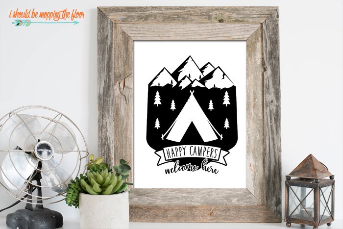 Happy Campers Print