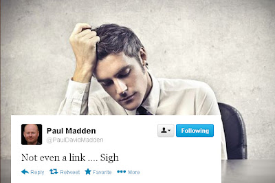 Paul Madden Tweet