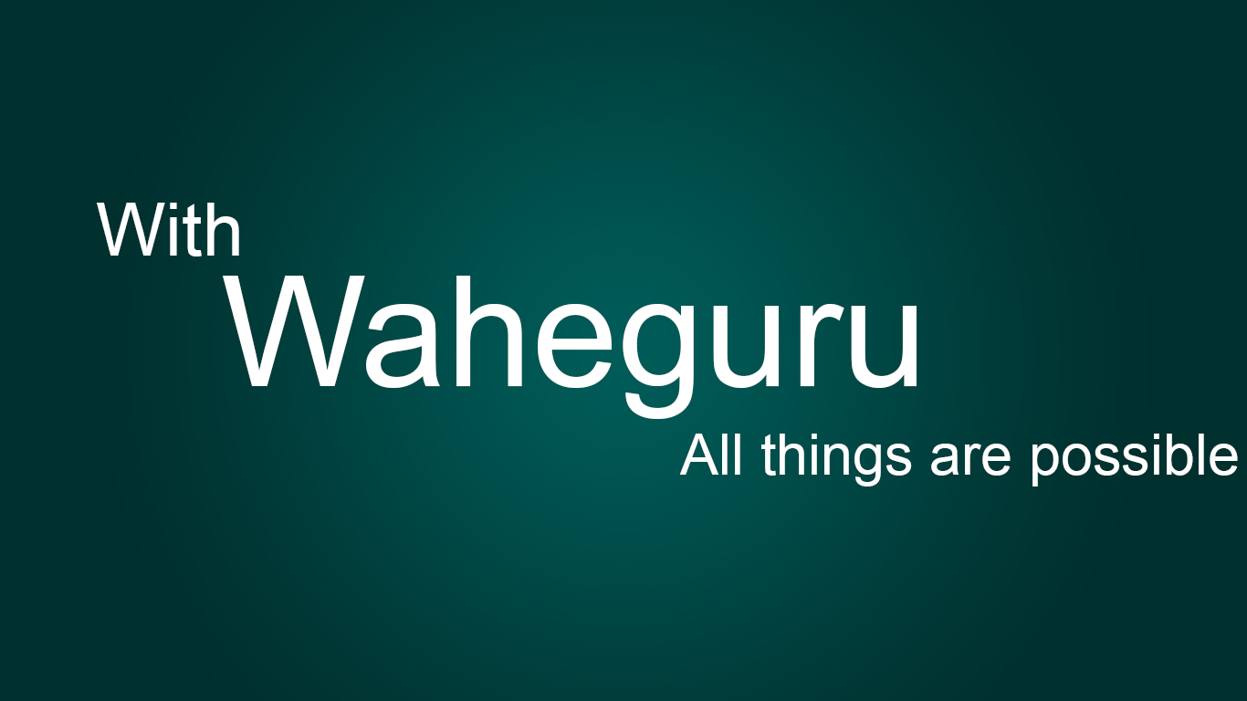 H Graphicspro Wallpaper With Waheguru All Things Are Possible