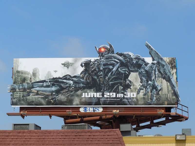 Shockwave Transformers 3 billboard