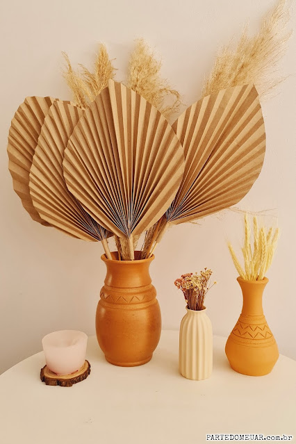 diy paper palm leaves