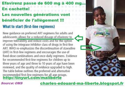 OMS TLE-400 lanzafame efavirenz encore1 vih hiv sida WHO Mylan TLE400 Cipla 400 mg