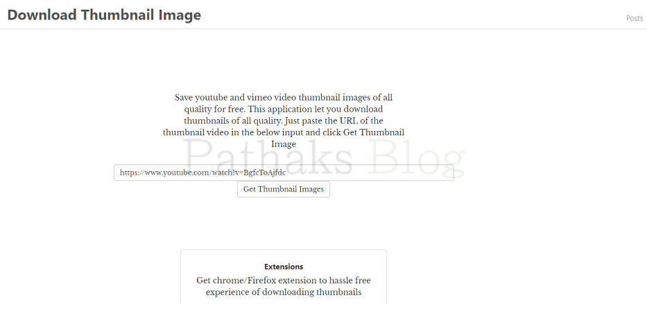 Download Thumbnail Image, pathaks blog, anil pathak