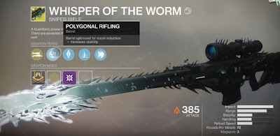 Whisper of the Worm, Exotic Sniper Riffle, Destiny 2