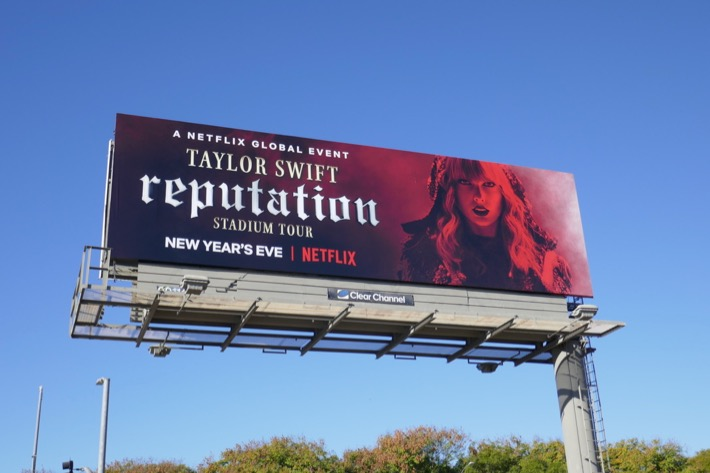 Taylor Swift Reputation Tour Netflix billboard