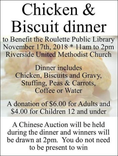 11-17 Chicken & Biscuit Dinner, Roulette