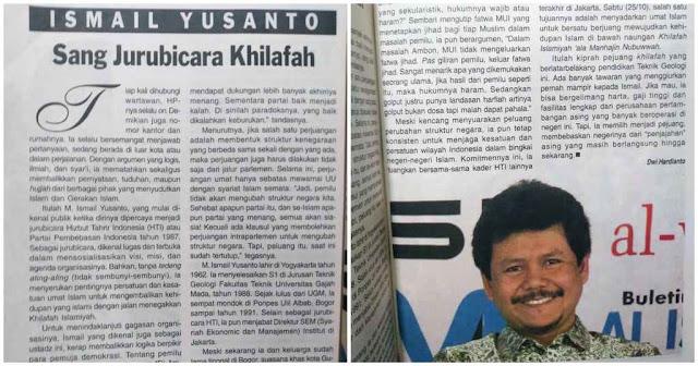 buku pertama yg membuat saya semakin penasaran kepada sosok Ust. Ismail Yusanto. Redaktur Sabili terbitan tahun 2003 menggambar Ust. Ismail begitu rupa, cerdas