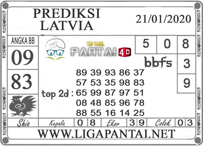 PREDIKSI TOGEL LATVIA PANTAI4D 21 JANUARI 2020