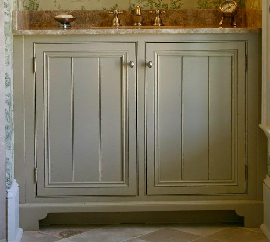 Beaded Cupboard Doors & Custom Vanity Cabinet With Bead