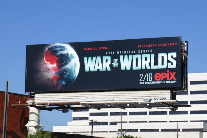 War of the Worlds series launch billboard