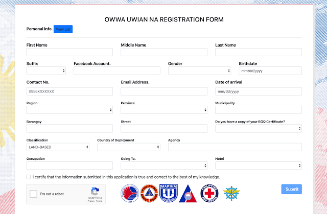 OWWA Uwian Program - OFWs Assistance lazyload
