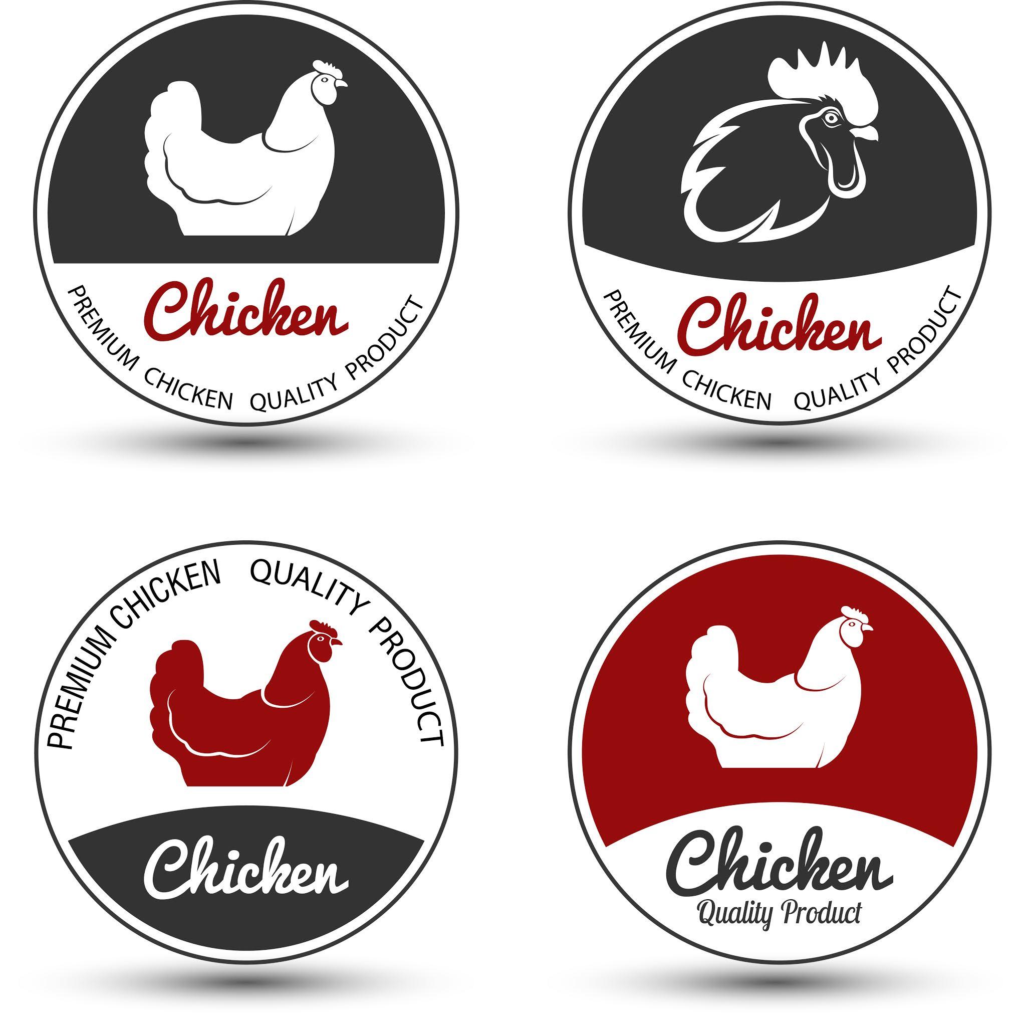 A set of high quality chicken logo designs