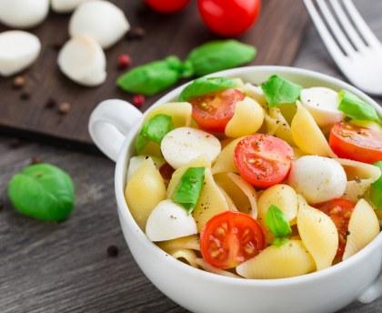 Pasta salad with basil
