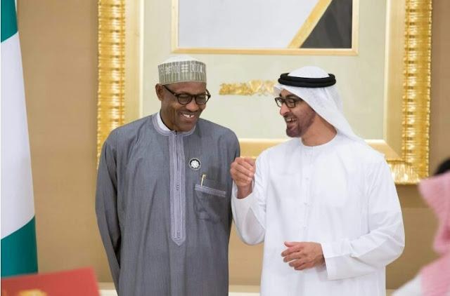 "Alt: = ""photo of President Buhari and UAE Ambassador to Nigeria"""