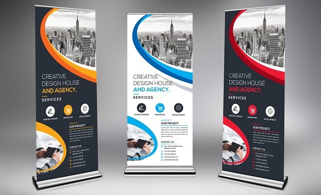 guidelines roll up banners design advertising banner
