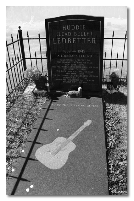 "Huddie ""Lead Belly"" Ledbetter's grave at Shiloh Baptist Church"