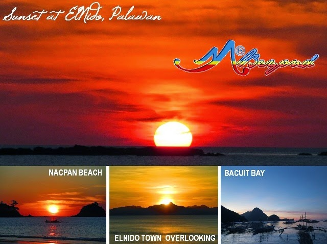 sunset at el nido, el nido sunset, el nido palawan, map el nido, el nido tourist guide, el nido tourist attractions, el nido islands