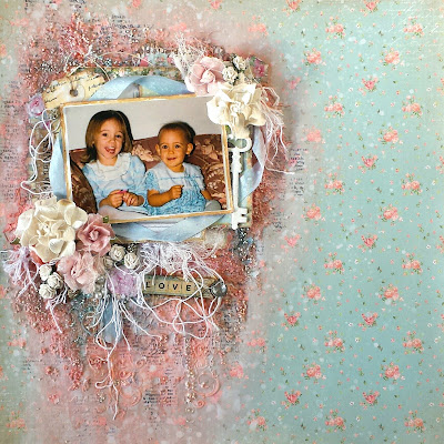 Love Scrapbooking Layout Mixed Media