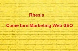 come fare web marketing SEO