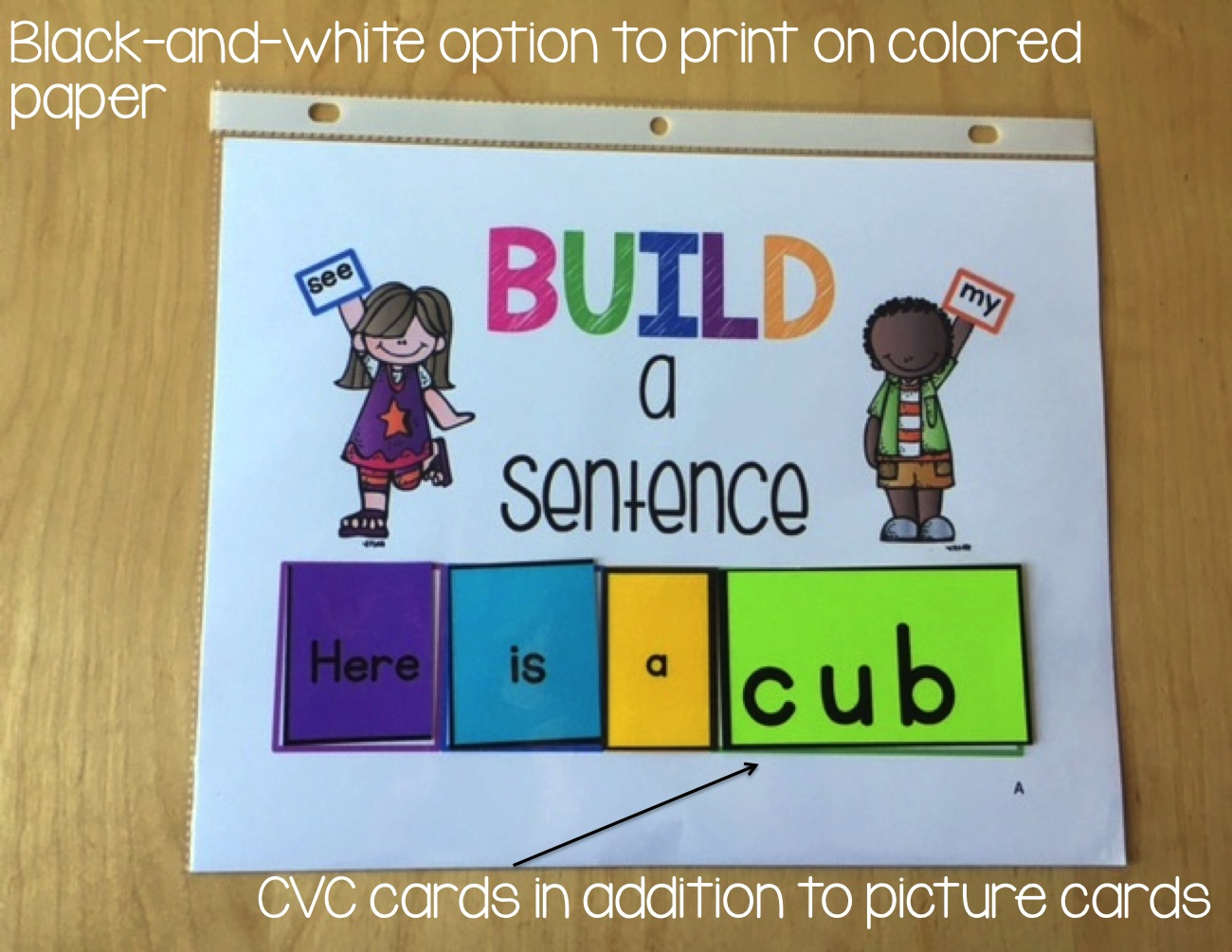 I Recently Updated With Black And White Sight Words Cards So You Could Print Onto Colored Paper Also Added Some CVC Word To Use In Place Of The