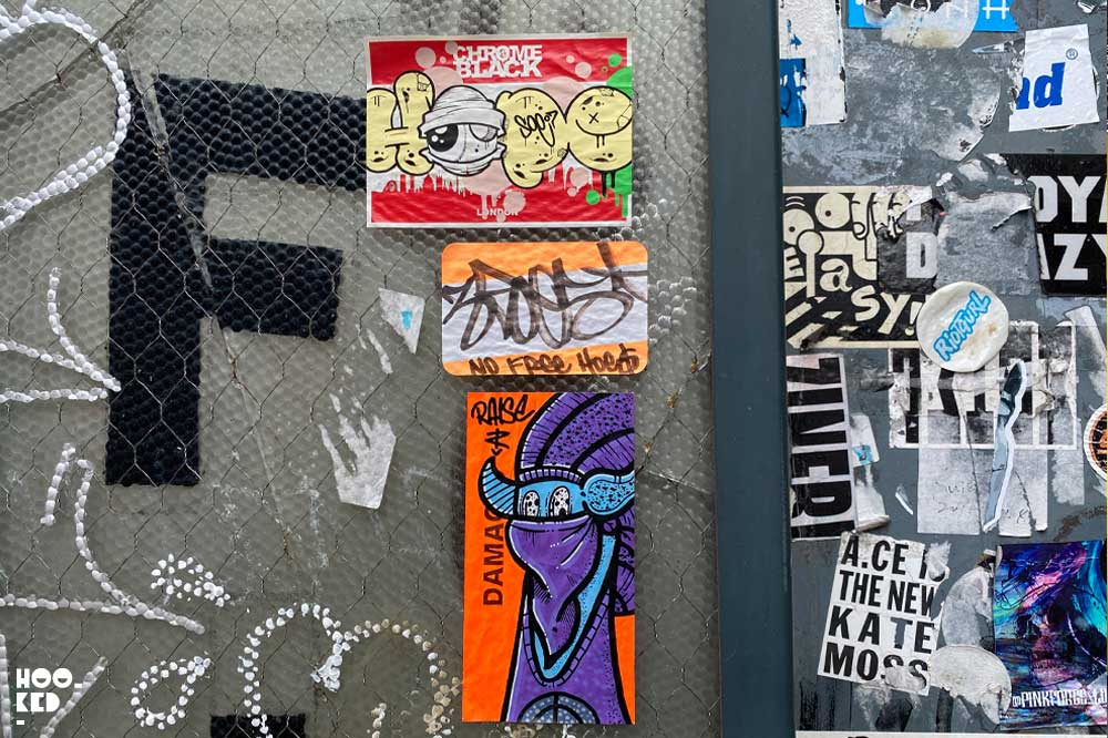 London Street Art - Shoreditch Sticker Art