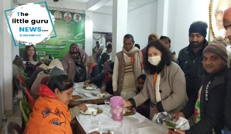 केसरिया विधायक ने किया दही-चूरा भोज का आयोजन