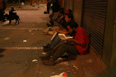 Some of the many homeless of Bogotá DC, Colombia.