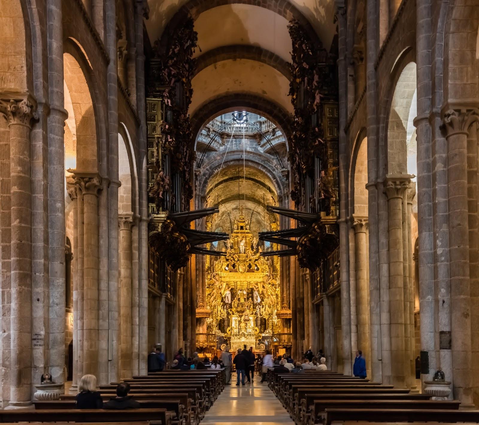 Sociales y lengua catedral de santiago de compostela - Interior santiago de compostela ...