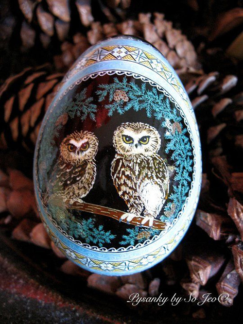 My Owl Barn So Jeo Leblond Pysanky Easter Eggs