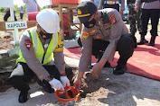 Kapolda Kalteng Lakukan Peletakan Batu Pertama Pembangunan Mapolsek Jekan Raya