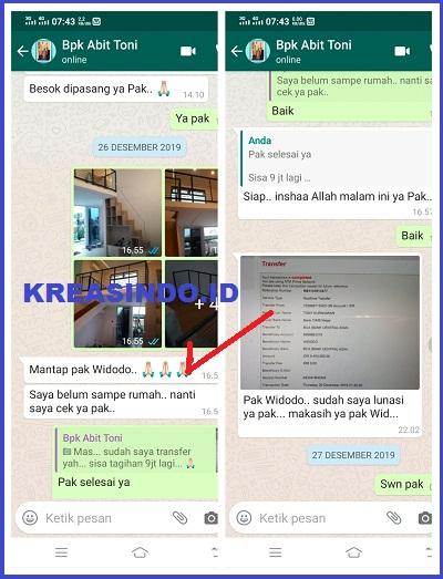 Mezzanine Besi pesanan Bpk Toni di Jalan MPR 3 Dalam Cipete Jakarta Selatan