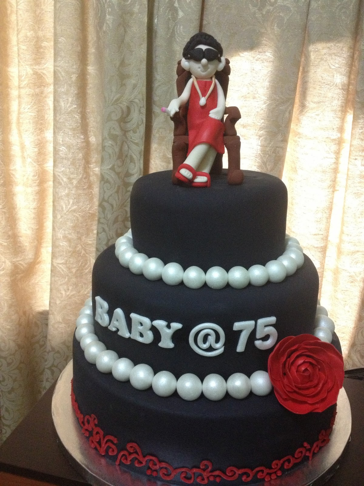 Customized 75th Birthday Cake