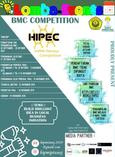 Lomba Ide Bisnis Model Canvas Nasional HIPEC Unej 2019 Mahasiswa/i