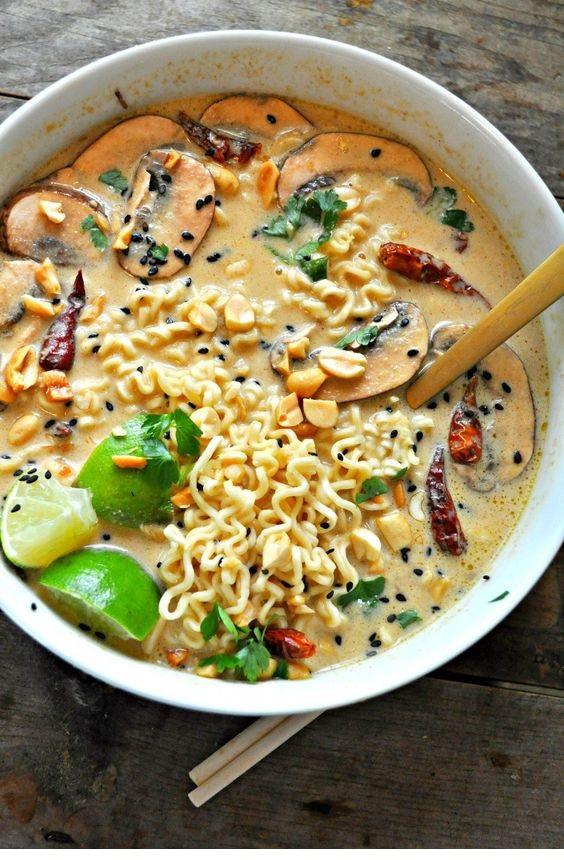 Vegan Spicy Thai Peanut Ramen