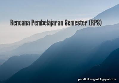 Contoh Rencana Pembelajaran Semester RPS Blog Geografi