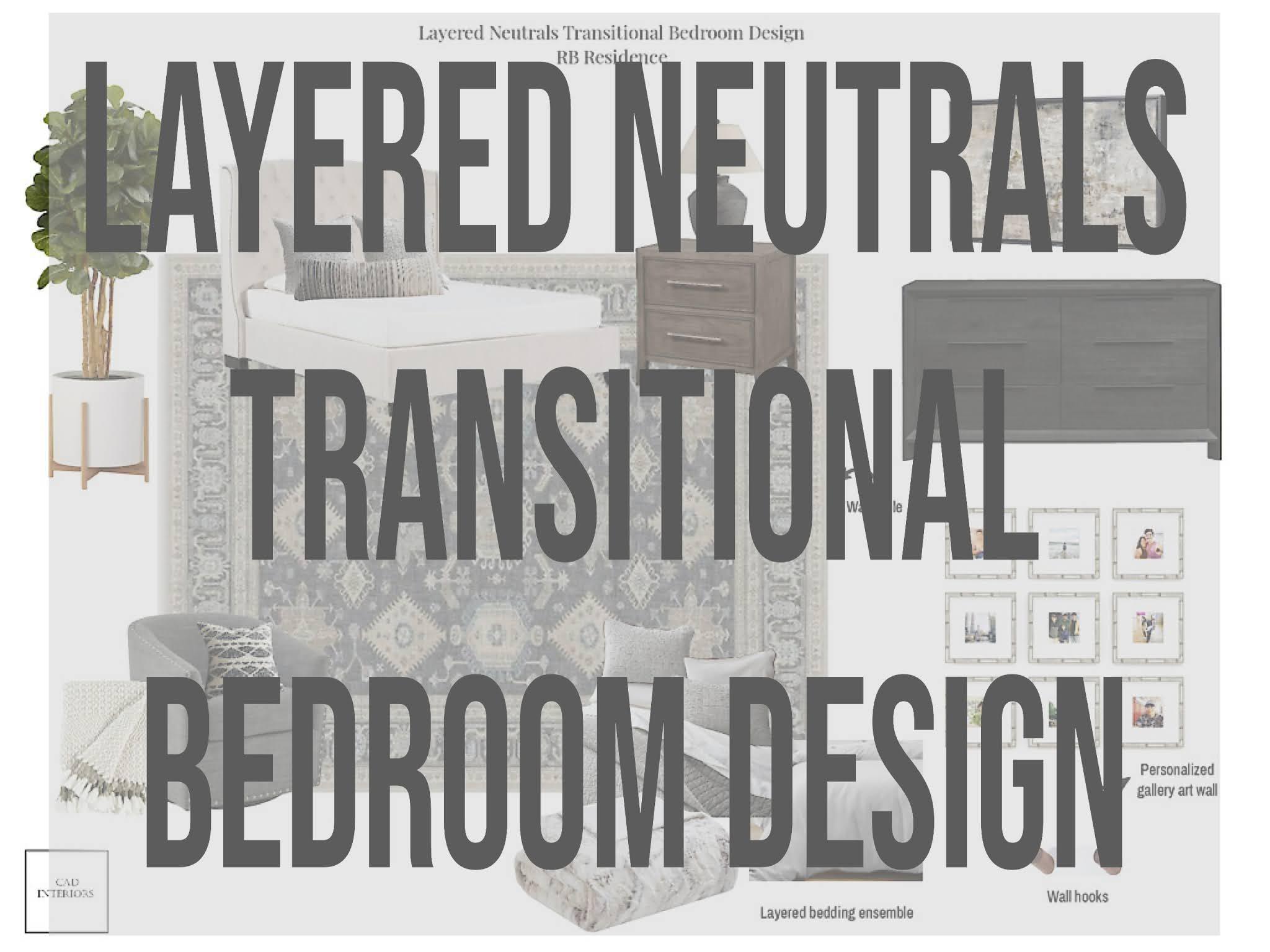 professional online interior e-design master bedroom