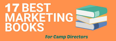 Photo graphic of the best 17 summer camp marketing books