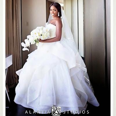 tiwa savage wedding dress,