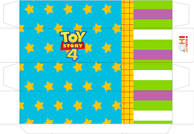 Toy Story 4 with Forky: Free Printable Boxes.