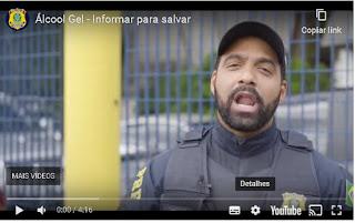 PRF explica em vídeo relação álcool gel e fiscalização de lei seca