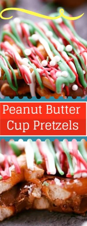 Peanut Butter Cup Pretzels #christmas #snack