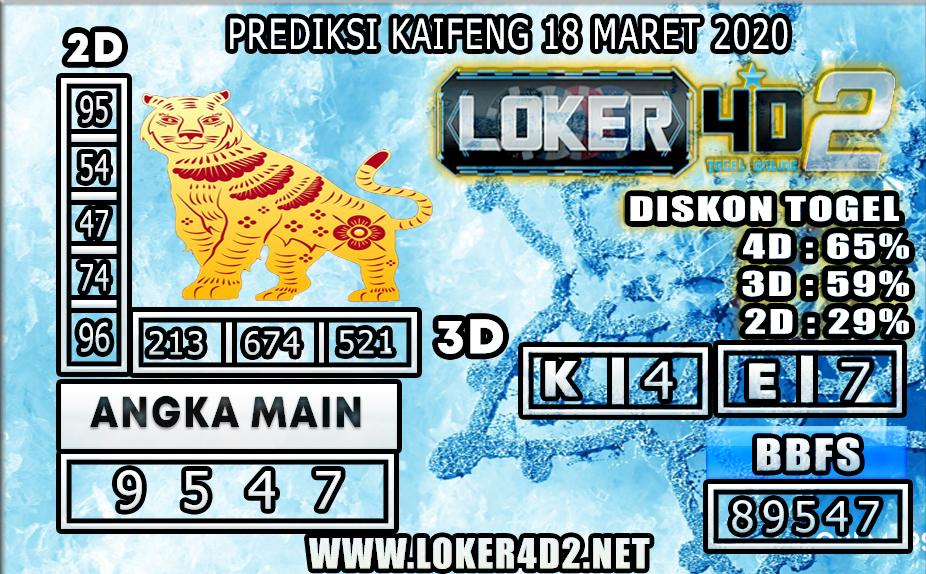 PREDIKSI TOGEL KAIFENG  LOKER4D2 18 MARET 2020