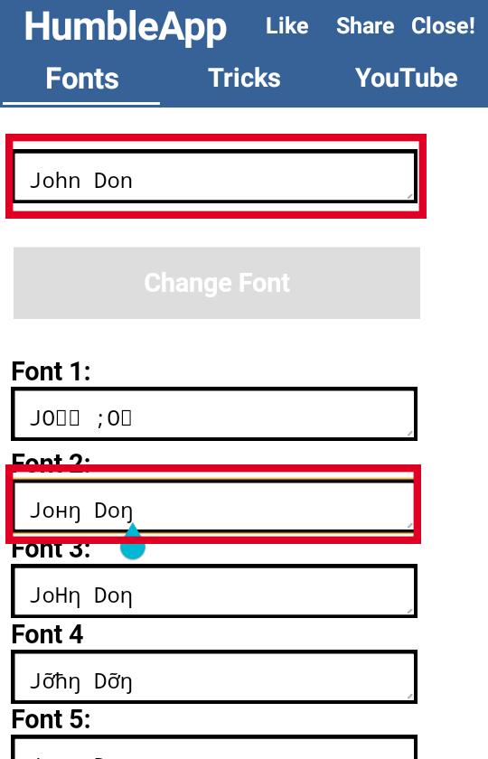 Font changer app - Facebook font generator - font changer