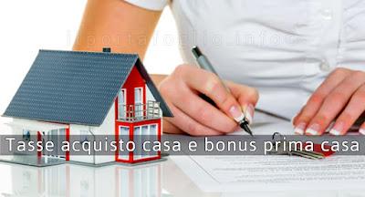 bonus tasse prima casa