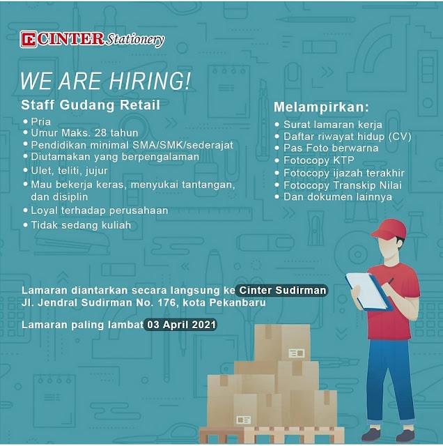Loker Staff Gudang Retail  Cinter Stationery