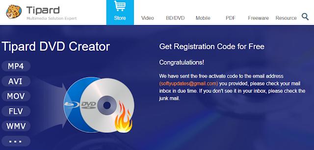 Get Tipard DVD Creator Free License