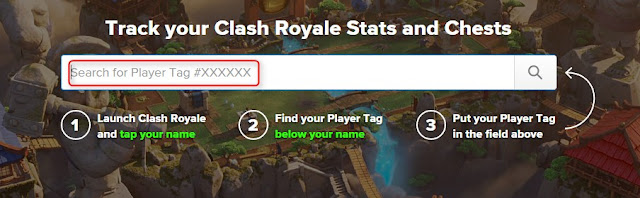Search for Player Tag Clash Royale