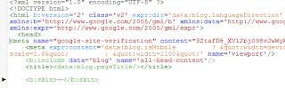 pasang kode verifikasi google webmaster