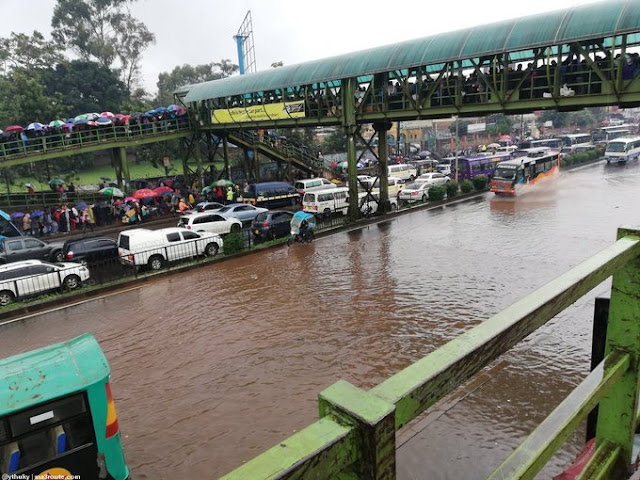Roads in Nairobi flooded. Ngara Road. PHOTO   BNC