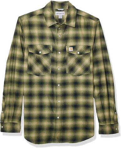 Men's Plaid Flannel Shirts With Snaps